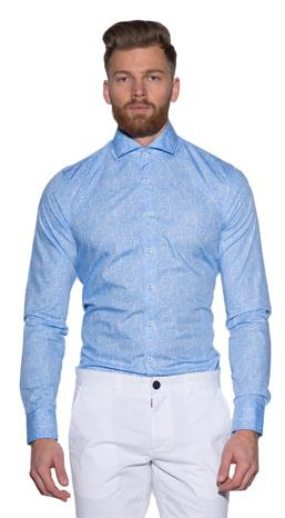 Blue Industry Casual shirt LM Blauw