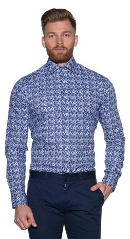 Blue Industry Casual shirt LM Donker blauw