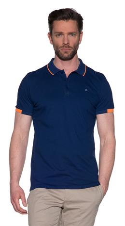 Blue Industry Polo KM Blauw
