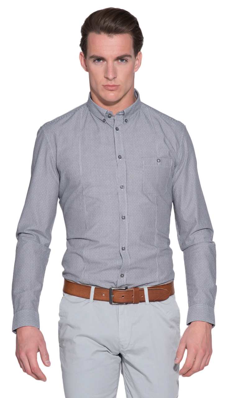 Drykorn Casual shirt LM Antraciet