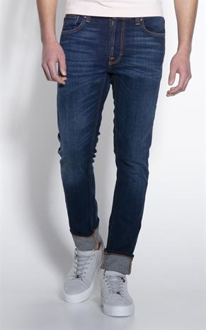 Nudie Jeans Lean Dean Dark Deep Worn Jeans