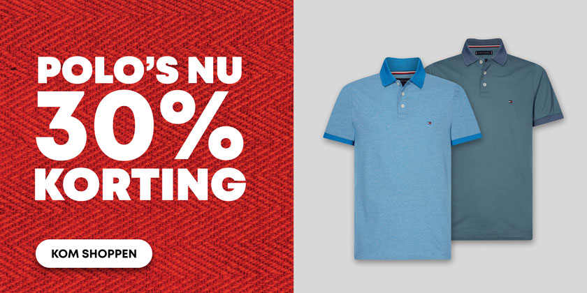 Outlet -1- Polo's 30% korting
