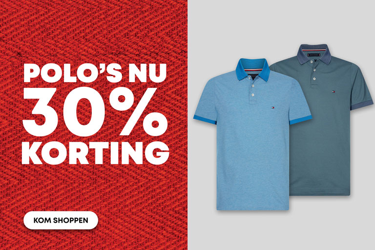 Outlet - 1- Polo's 30% korting