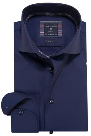Profuomo Originale Overhemd LM Donker blauw