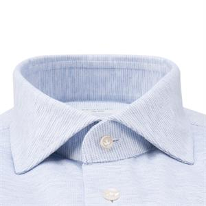 Profuomo Sky Blue Slim fit Knitted Overhemd LM